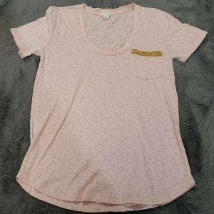 J crew headed pocket T shirt pink XS